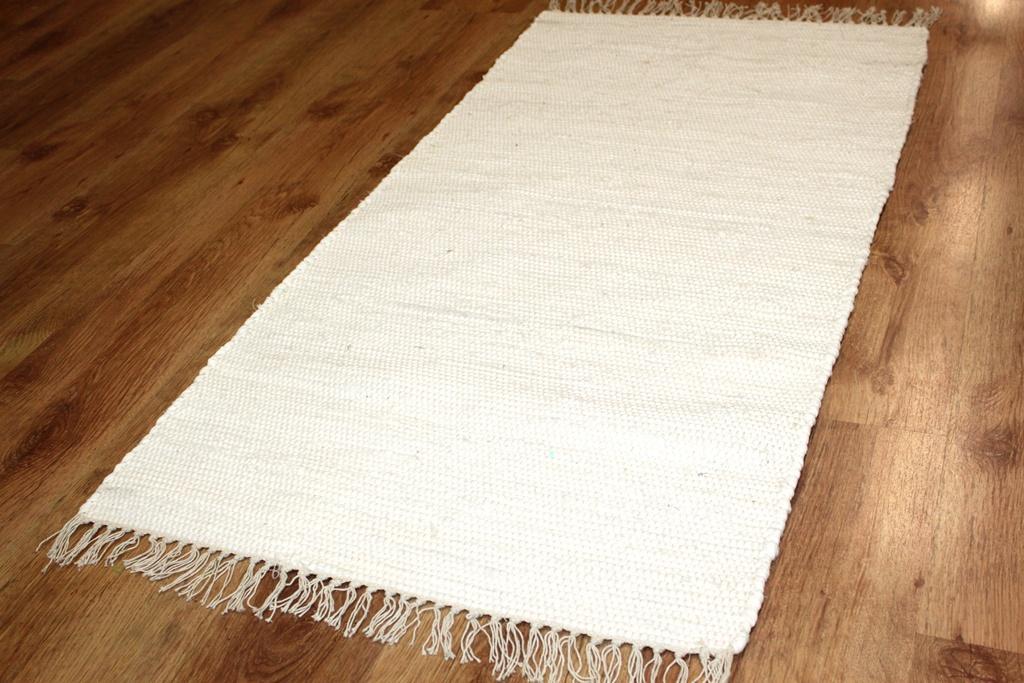 Flickenteppich Cotton Wei 223 Trendcarpet De